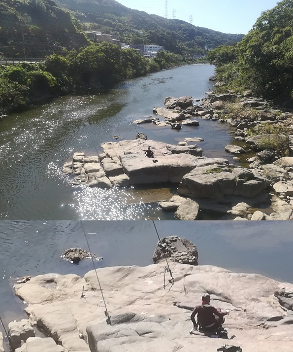 14 大和川の弁天橋を渡る