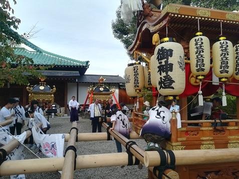 7 龍田大社のお神輿