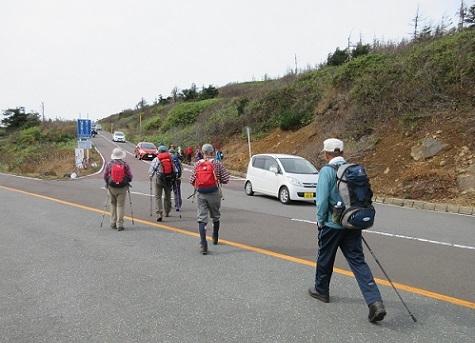 5 蔵王エコーラインから苅田岳へ登る