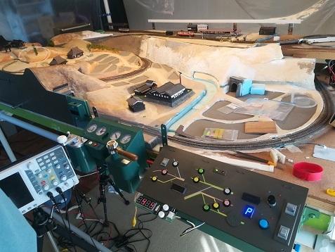1 電車 ジオラマ模型