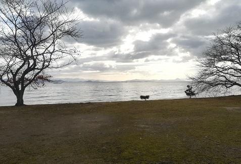 3s 琵琶湖湖岸の景色