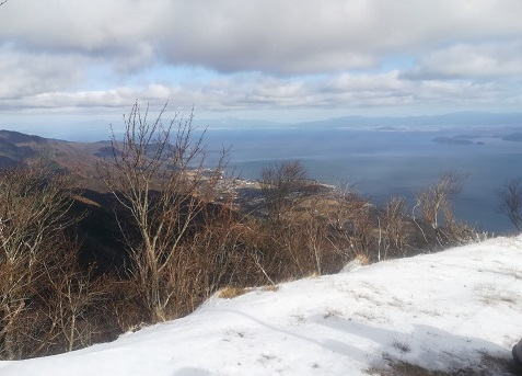 19s 琵琶湖テラス下から琵琶湖北部方面