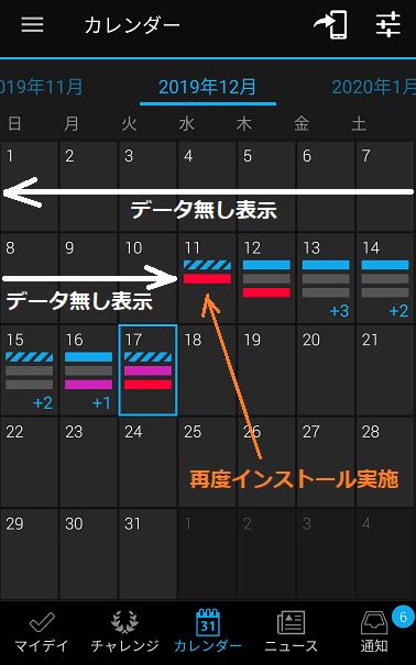 5 12月11日に再度インストール実施