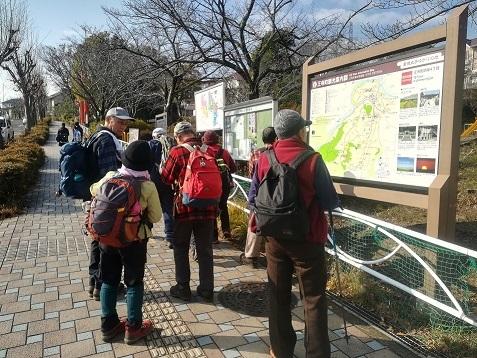 4 明神山の登山コース看板前
