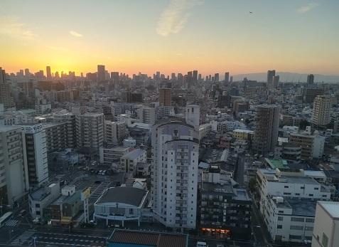 7 大阪市内の夕暮れ