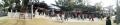 18 百度石にお詣りする人達 パノラマ写真 大