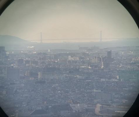7 明石海峡大橋 双眼鏡写真