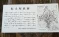 12 松永屋敷跡 看板 大