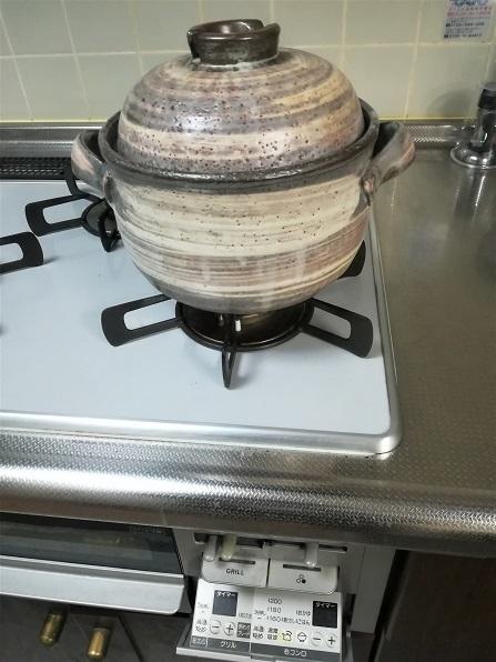 2 土鍋でご飯を炊く