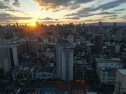 6 大阪の夕暮れ