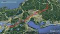 11 木曽福島スキー場→自宅 ルートマップ グーグルアース