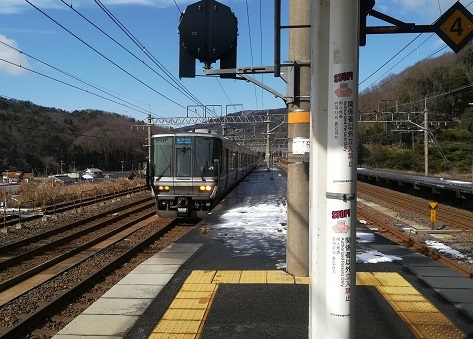 16 姫路行き新快速電車がやって来ました