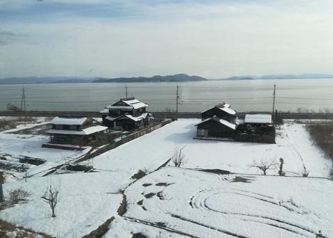 20 琵琶湖西岸を南下中