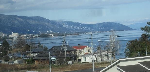 23 琵琶湖を南下中 湖面は鏡のようだ