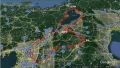 25 琵琶湖一周 コース地図  グーグルアース 大