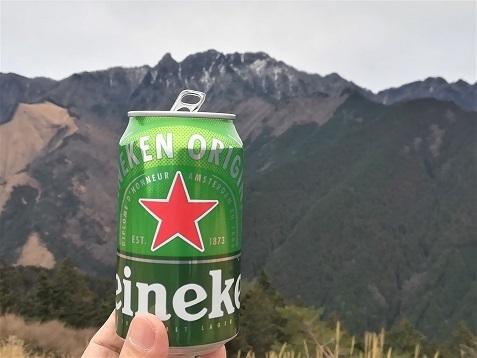 15 稲村ケ岳とビール