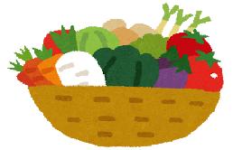食物繊維の多い野菜のイラスト