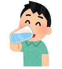 水分補給する人のイラスト