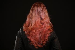 長い髪の女性の後ろ姿