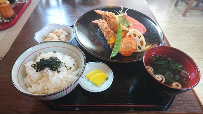 道の駅あいお (極上)えびフライ定食