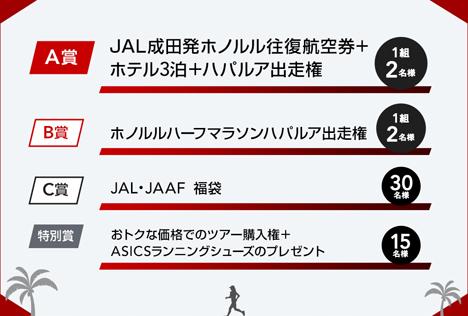 JALは、ホノルル往復航空券やハパルア出走権などが当たるTwitterキャンペーンを開催!