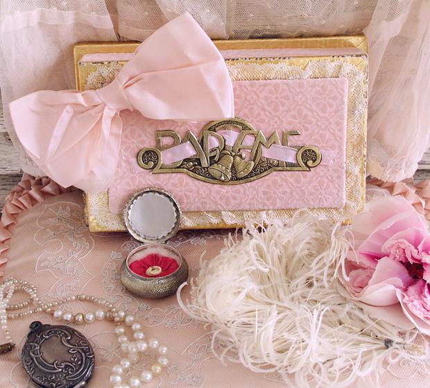 ピンク色リボンのドラジェボックス