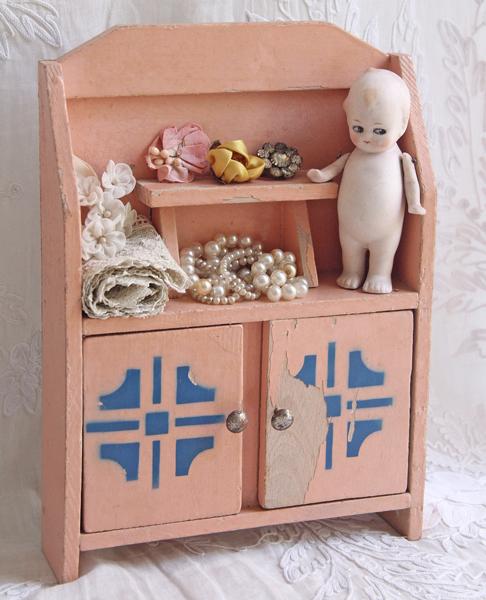 ドール用家具/アンティーク/ブロカント/ピンク色