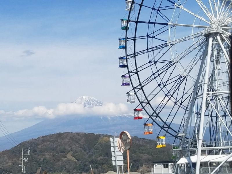 富士川楽座観覧車と富士山
