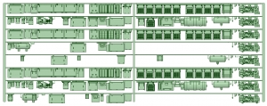HK33-01 3300系床下機器3305F 8連【武蔵模型工房 Nゲージ 鉄道模型】