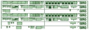 HK33-02 3300系床下機器3309F 7連【武蔵模型工房 Nゲージ 鉄道模型】