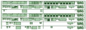 HK33-03 3300系床下機器3311F 7連【武蔵模型工房 Nゲージ 鉄道模型】