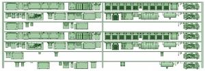 HK33-04 3300系床下機器3314F 7連【武蔵模型工房 Nゲージ 鉄道模型】