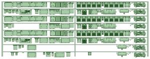 HK33-05 3300系床下機器3315F 8連【武蔵模型工房 Nゲージ 鉄道模型】