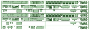 HK33-06 3300系床下機器3318F 7連【武蔵模型工房 Nゲージ 鉄道模型】