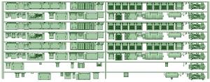 HK33-08 3300系床下機器3323F 8連【武蔵模型工房 Nゲージ 鉄道模型】