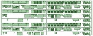 HK33-09 3300系床下機器3324F 8連【武蔵模型工房 Nゲージ 鉄道模型】