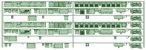 HK33-10 3300系床下機器3324F 7連【武蔵模型工房 Nゲージ 鉄道模型】