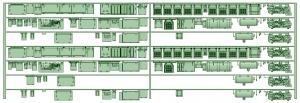 HK33-11 3300系床下機器3325F 7連【武蔵模型工房 Nゲージ 鉄道模型】
