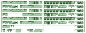 HK33-12 3300系床下機器3326F 8連【武蔵模型工房 Nゲージ 鉄道模型】