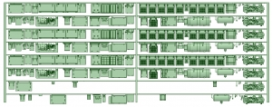 HK33-13 3300系床下機器3327F 8連【武蔵模型工房 Nゲージ 鉄道模型】
