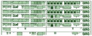 HK33-15 3300系床下機器3328F 8連【武蔵模型工房 Nゲージ 鉄道模型】