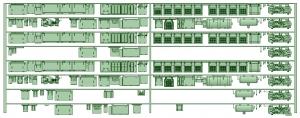 HK33-16 3300系床下機器3329F 8連【武蔵模型工房 Nゲージ 鉄道模型】
