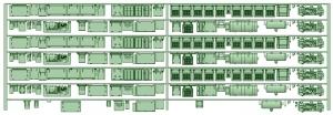 HK33-14 3300系床下機器3327F 7連【武蔵模型工房 Nゲージ 鉄道模型】