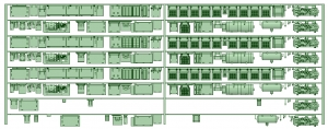 HK33-17 3300系床下機器3330F 8連【武蔵模型工房 Nゲージ 鉄道模型】