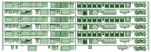 HK33-18 3300系床下機器3330F 7連【武蔵模型工房 Nゲージ 鉄道模型】