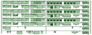 HK33-19 3300系床下機器3331F 8連【武蔵模型工房 Nゲージ 鉄道模型】
