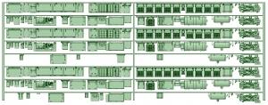 HK33-07 3300系床下機器3320F 8連【武蔵模型工房 Nゲージ 鉄道模型】