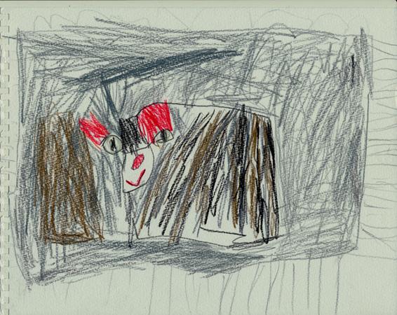 モコちゃんこむすびの絵
