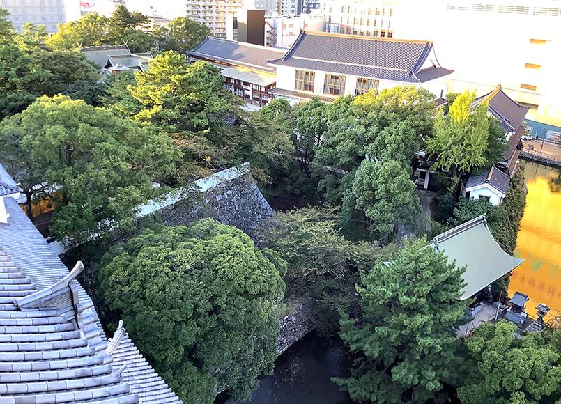 小倉城からの眺め