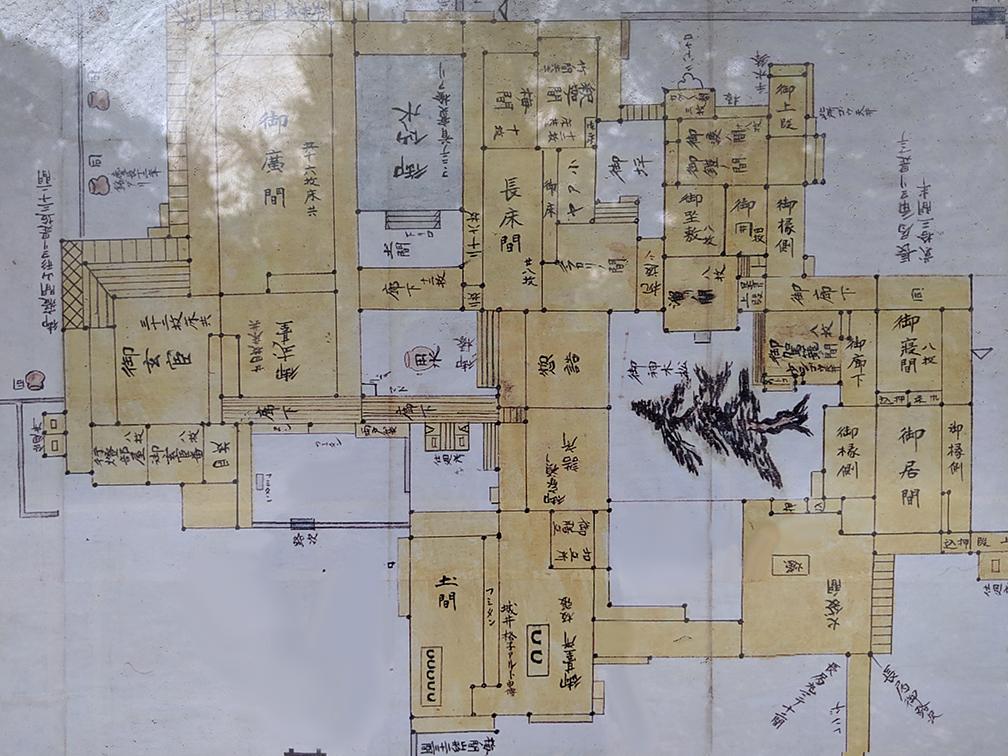 3福岡城本丸の図